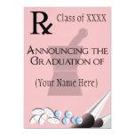 Pharmacist Graduation Invitations Rx Pad Design 5