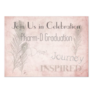 Pharmacist Graduation Invitations Soft Romance