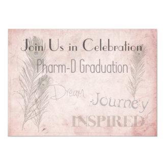 "Pharmacist Graduation Invitations Soft Romance 4.5"" X 6.25"" Invitation Card"
