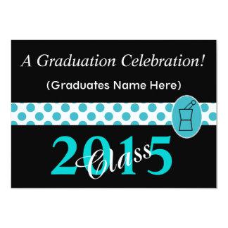 Pharmacist Graduation Invitations Teal and Black