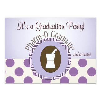 "Pharmacist Graduation Party Invitations 4.5"" X 6.25"" Invitation Card"