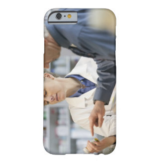 Pharmacist helping customer with medicine barely there iPhone 6 case