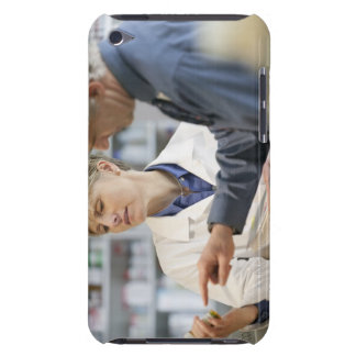 Pharmacist helping customer with medicine barely there iPod case