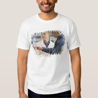 Pharmacist helping customer with medicine t-shirt