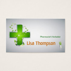 Pharmacist Herbalist Pharmacy Nutritionist Business Card at Zazzle