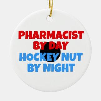 Pharmacist Hockey Fanatic Christmas Ornament