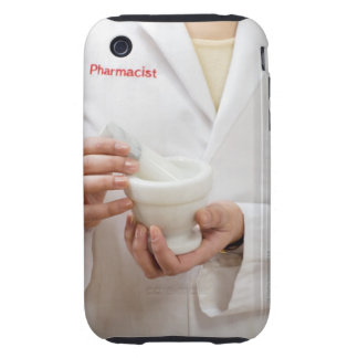 Pharmacist holding mortar and pestle iPhone 3 tough case