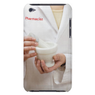 Pharmacist holding mortar and pestle iPod touch cover