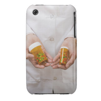 Pharmacist holding pill bottles iPhone 3 case