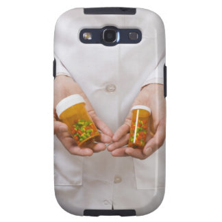 Pharmacist holding pill bottles galaxy SIII cases