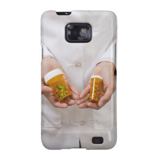 Pharmacist holding pill bottles samsung galaxy s covers