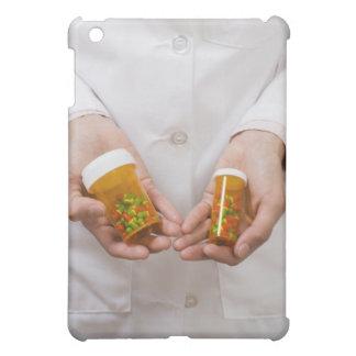 Pharmacist holding pill bottles iPad mini cover