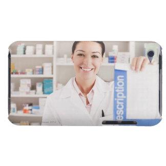 Pharmacist holding prescription in drug store iPod touch case