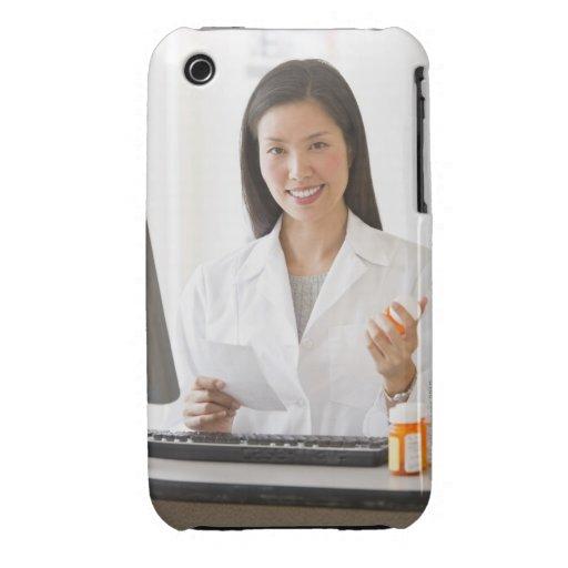 Pharmacist holding prescription medication iPhone 3 cover