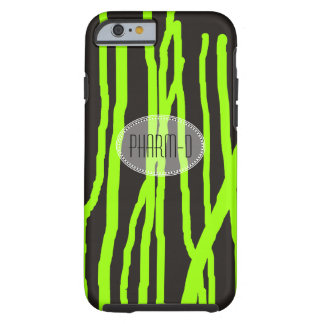 Pharmacist iPhone 6 case Abstract Lime Green