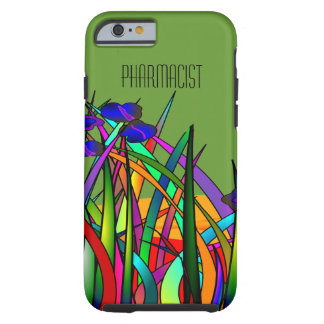 Pharmacist iPhone 6 case Whimsical Floral Green