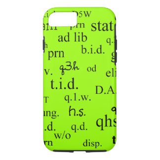 Pharmacist iPhone 7 case Abbreviations Lime Green