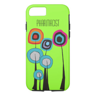 Pharmacist iPhone 7 case Whimsical Trees Green