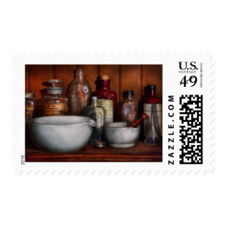 Pharmacist - Medicine for Coughing Postage Stamps