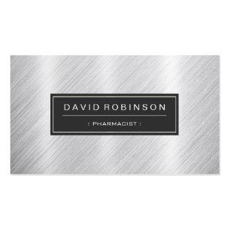 Pharmacist - Modern Brushed Metal Look Business Card