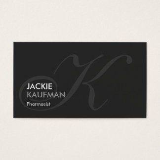 Pharmacist - Modern Swash Monogram Business Card