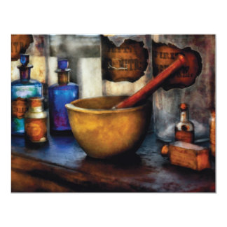Pharmacist - Mortar and Pestle Card