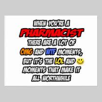 Pharmacist .. OMG WTF LOL Postcard