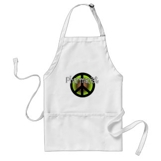 Pharmacist PEACE SYMBOL Gifts Adult Apron