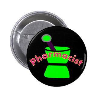 """""""Pharmacist""""  Pestle & Mortar Design Gifts Buttons"""
