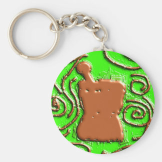 PHARMACIST Pestle & Mortar Design Gifts Keychain