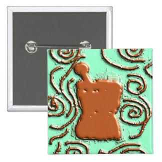 PHARMACIST Pestle & Mortar Design Gifts Pinback Button