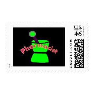 Pharmacist Pestle Mortar Design Gifts Postage Stamps