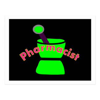 """Pharmacist""  Pestle & Mortar Design Gifts Postcard"