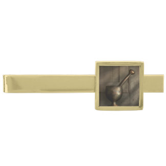 Pharmacist - Pestle - Simpler Times Gold Finish Tie Clip