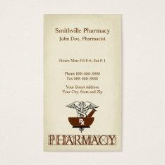 Pharmacist Pharmacy Business Card at Zazzle