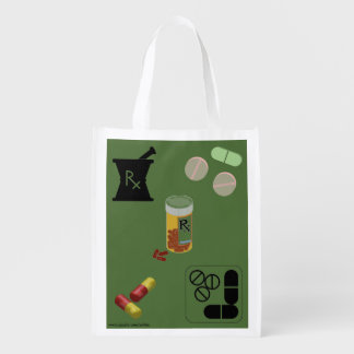 Pharmacist Pharmacy Tote Reusable Grocery Bags