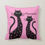 Pharmacist Pillow Black Cats