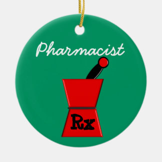 Pharmacist Prescription Christmas Ornament