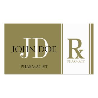 Pharmacist/Prescription Pharmacy Antique Gold Double-Sided Standard Business Cards (Pack Of 100)