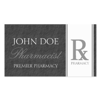 Pharmacist Prescription Pharmacy Dark Grey Slate Double-Sided Standard Business Cards (Pack Of 100)