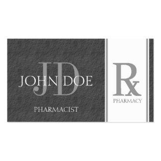 Pharmacist/Prescription Pharmacy Dark Grey Slate Double-Sided Standard Business Cards (Pack Of 100)