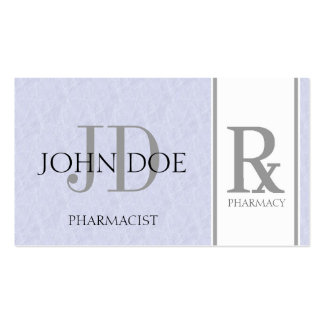 Pharmacist/Prescription Pharmacy Light Sky Blue Double-Sided Standard Business Cards (Pack Of 100)