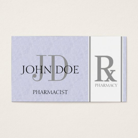 Pharmacist/Prescription Pharmacy Light Sky Blue Business Card
