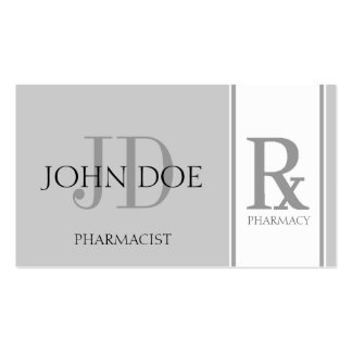 Pharmacist/Prescription Pharmacy Silver Double-Sided Standard Business Cards (Pack Of 100)