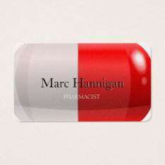 Pharmacist - Red Pill Pharmacy Business Card at Zazzle