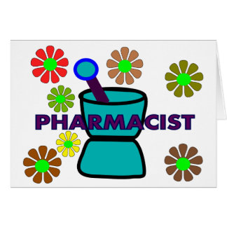 """""""Pharmacist""""  Retro Flowers T-Shirts & Gifts Card"""