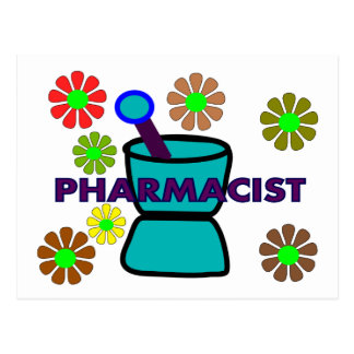 """Pharmacist""  Retro Flowers T-Shirts & Gifts Postcard"
