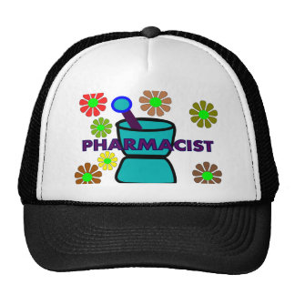 """Pharmacist""  Retro Flowers T-Shirts & Gifts Trucker Hat"