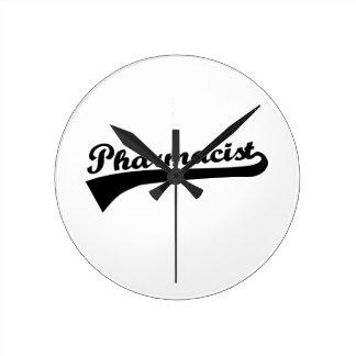 Pharmacist Round Wallclocks