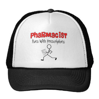 Pharmacist Runs With Precriptions Gifts Trucker Hat